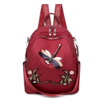 Rucsac dama Butterfly red
